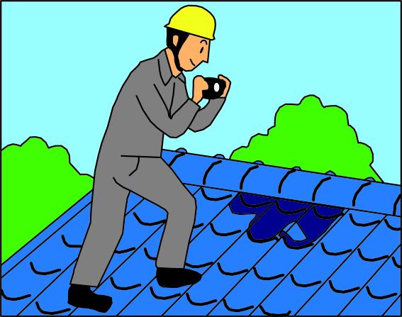 新築そっくりさん 屋根調査